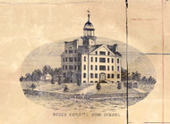 Bucks County High School - Bucks Co., Pennsylvania 1850 Old Town Map Custom Print - Bucks Co.