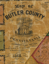 Title of Source Map - Butler Co., Pennsylvania 1858 - NOT FOR SALE - Butler Co.