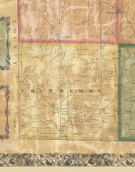 Cranberry Township, Pennsylvania 1858 Old Town Map Custom Print - Butler Co.