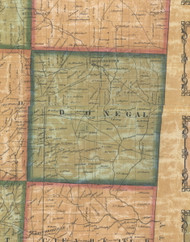 Donegal Township, Pennsylvania 1858 Old Town Map Custom Print - Butler Co.