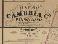 Title of Source Map - Cambria Co., Pennsylvania 1867 - NOT FOR SALE - Cambria Co.