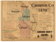 Towns on Source Map - Cameron Co., Pennsylvania 1870 - NOT FOR SALE - Cameron Co.