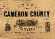 Title of Source Map - Cameron Co., Pennsylvania 1870 - NOT FOR SALE - Cameron Co.