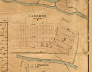 Cameron - Lumber Township, Pennsylvania 1870 Old Town Map Custom Print - Cameron Co.