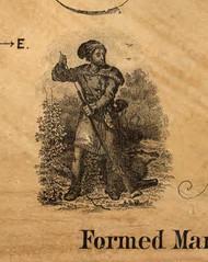 Pictorial of a Hunter - Cameron Co., Pennsylvania 1870 Old Town Map Custom Print - Cameron Co.