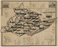 Towns on Source Map - Centre Co., Pennsylvania 1861 - NOT FOR SALE - Centre Co.