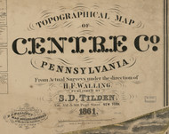 Title of Source Map - Centre Co., Pennsylvania 1861 - NOT FOR SALE - Centre Co.