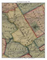 East Bradford Township, Pennsylvania 1856 Old Town Map Custom Print - Chester Co.