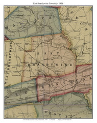East Brandywine Township, Pennsylvania 1856 Old Town Map Custom Print - Chester Co.