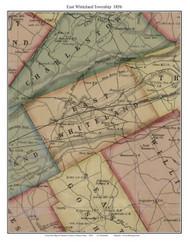 East Whiteland Township, Pennsylvania 1856 Old Town Map Custom Print - Chester Co.