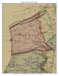 Honey Brook Township, Pennsylvania 1856 Old Town Map Custom Print - Chester Co.
