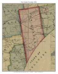 New Garden Township, Pennsylvania 1856 Old Town Map Custom Print - Chester Co.
