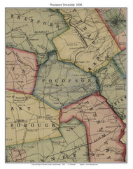 Pocopson Township, Pennsylvania 1856 Old Town Map Custom Print - Chester Co.