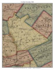 Uwchlan Township, Pennsylvania 1856 Old Town Map Custom Print - Chester Co.