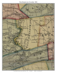 West Brandywine Township, Pennsylvania 1856 Old Town Map Custom Print - Chester Co.