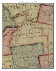 West Marlborough Township, Pennsylvania 1856 Old Town Map Custom Print - Chester Co.