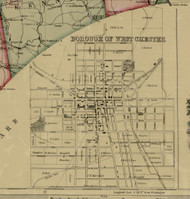West Chester Village - Chester Co., Pennsylvania 1856 Old Town Map Custom Print - Chester Co.