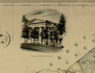 Chester Co. Bank - Chester Co., Pennsylvania 1856 Old Town Map Custom Print - Chester Co.