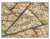 Charlestown Township, Pennsylvania 1860 Old Town Map Custom Print - Chester Co.