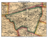East Fallowfield Township, Pennsylvania 1860 Old Town Map Custom Print - Chester Co.