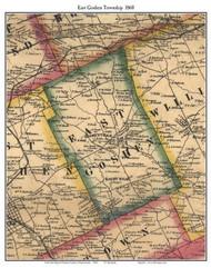 East Goshen Township, Pennsylvania 1860 Old Town Map Custom Print - Chester Co.