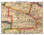 East Marlborough Township, Pennsylvania 1860 Old Town Map Custom Print - Chester Co.