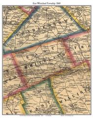 East Whiteland Township, Pennsylvania 1860 Old Town Map Custom Print - Chester Co.