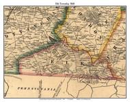 Elk Township, Pennsylvania 1860 Old Town Map Custom Print - Chester Co.