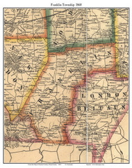 Franklin Township, Pennsylvania 1860 Old Town Map Custom Print - Chester Co.