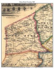 Honey Brook Township, Pennsylvania 1860 Old Town Map Custom Print - Chester Co.