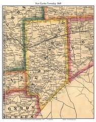 New Garden Township, Pennsylvania 1860 Old Town Map Custom Print - Chester Co.