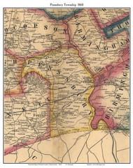 Pennsbury Township, Pennsylvania 1860 Old Town Map Custom Print - Chester Co.