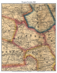 Pocopson Township, Pennsylvania 1860 Old Town Map Custom Print - Chester Co.