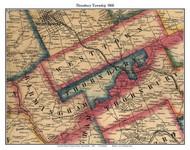 Thornbury Township, Pennsylvania 1860 Old Town Map Custom Print - Chester Co.