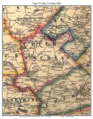 Upper Uwchlan Township, Pennsylvania 1860 Old Town Map Custom Print - Chester Co.