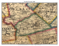 Uwchlan Township, Pennsylvania 1860 Old Town Map Custom Print - Chester Co.