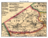 Warwick Township, Pennsylvania 1860 Old Town Map Custom Print - Chester Co.