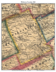 Willistown Township, Pennsylvania 1860 Old Town Map Custom Print - Chester Co.
