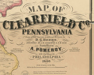 Title of Source Map - Clearfield Co., Pennsylvania 1866 - NOT FOR SALE - Clearfield Co.