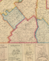 Beccaria Township, Pennsylvania 1866 Old Town Map Custom Print - Clearfield Co.