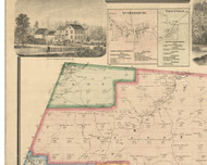 Fox Township, Pennsylvania 1866 Old Town Map Custom Print - Clearfield Co.
