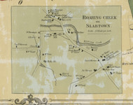 Roaring Creek Village - Roaring Creek Township, Pennsylvania 1860 Old Town Map Custom Print - Columbia Co.