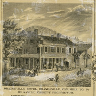 Orangeville Hotel - Columbia Co., Pennsylvania 1860 Old Town Map Custom Print - Columbia Co.