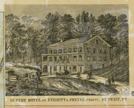 Rupert Hotel - Columbia Co., Pennsylvania 1860 Old Town Map Custom Print - Columbia Co.