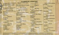 Bloomsburg Business Directory - Columbia Co., Pennsylvania 1860 Old Town Map Custom Print - Columbia Co.