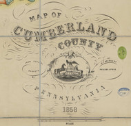 Title of Source Map - Cumberland Co., Pennsylvania 1858 - NOT FOR SALE - Cumberland Co.