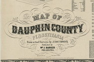 Title of Source Map - Dauphin Co., Pennsylvania 1858 - NOT FOR SALE - Dauphin Co.