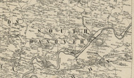 South Hanover Township, Pennsylvania 1858 Old Town Map Custom Print - Dauphin Co.