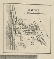 Halifax Village - Halifax Township, Pennsylvania 1858 Old Town Map Custom Print - Dauphin Co.