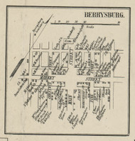 Berrysburg - Dauphin Co., Pennsylvania 1858 Old Town Map Custom Print - Dauphin Co.
